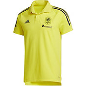 adidas Men's Nashville SC Coaches Yellow Polo