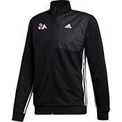 adidas Men's Fresno State Bulldogs Transitional Full-Zip Track Black Jacket
