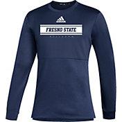 adidas Men's Fresno State Bulldogs Blue Team Issue Crew Pullover Shirt