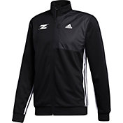 adidas Men's Akron Zips Transitional Full-Zip Track Black Jacket