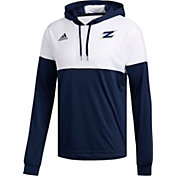 adidas Men's Akron Zips Navy Legend Shooter Long Sleeve Shirt