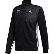 adidas Men's Louisiana Tech Bulldogs Transitional Full-Zip Track Black Jacket