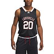 adidas Men's Louisville Cardinals #20 Retro Replica Basketball Black Jersey