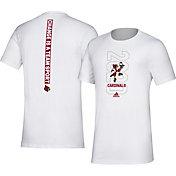 adidas Men's Louisville Cardinals 'Change is a Team Sport' Bench White T-Shirt