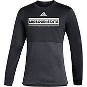 adidas Men's Missouri State Bears Team Issue Crew Pullover Black Shirt