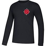 adidas Men's Nebraska Cornhuskers Diamond Days Long Sleeve Black T-Shirt