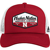 adidas Men's Nebraska Cornhuskers Scarlet Foam Trucker Adjustable Hat