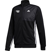 adidas Men's Nevada Wolf Pack Transitional Full-Zip Track Black Jacket