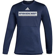 adidas Men's Northern Arizona Lumberjacks Blue Team Issue Crew Pullover Shirt