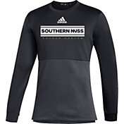 adidas Men's Southern Miss Golden Eagles Team Issue Crew Pullover Black Shirt