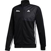 adidas Men's Tulsa Golden Hurricane Transitional Full-Zip Track Black Jacket