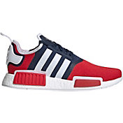 adidas Originals Men's NMD_R1 Shoes in Navy/Scarlet/White