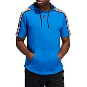 adidas Men's Post Game Lite Tape Short Sleeve Hoodie