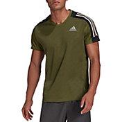 adidas Men's Own The Run 3-Stripes Iteration Short Sleeve T-Shirt
