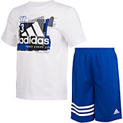 adidas Infant CTN Short Sleeve T-Shirt and Shorts Set