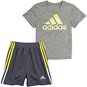 adidas Toddler Boys' Badge of Sport Graphic Short Sleeve T-Shirt and Shorts Set