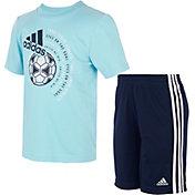 adidas Kids' Graphic T-Shirt Short Set