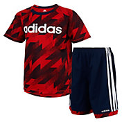 adidas Toddler Boys' Universal Clashed Short Sleeve T-Shirt and Shorts Set