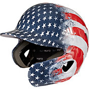 adidas Senior Signature Series USA Batting Helmet w/ Jaw Guard