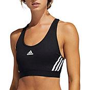 adidas Women's Believe This 3-Stripes Rib Racerback Medium Support Sports Bra