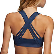 adidas Women's Believe This Lace-Up Crossback Medium Support Sports Bra