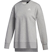 adidas Women's French Terry Split Tunic Crew Sweatshirt