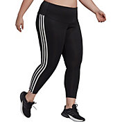 Adidas Women's High Rise 3-Stripes 7/8 Plus Size Tights