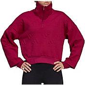 adidas Women's AEROREADY Jacquard Logo ½ Zip Sweatshirt