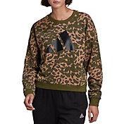 adidas Women's Sportswear Leopard-Print Sweatshirt