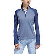 adidas Women's ½ Zip Heather Layer Golf Long Sleeve Pullover