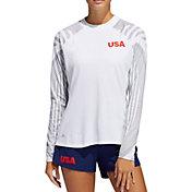 adidas Women's HEAT.RDY USA Long Sleeve Mock Neck Golf T-Shirt