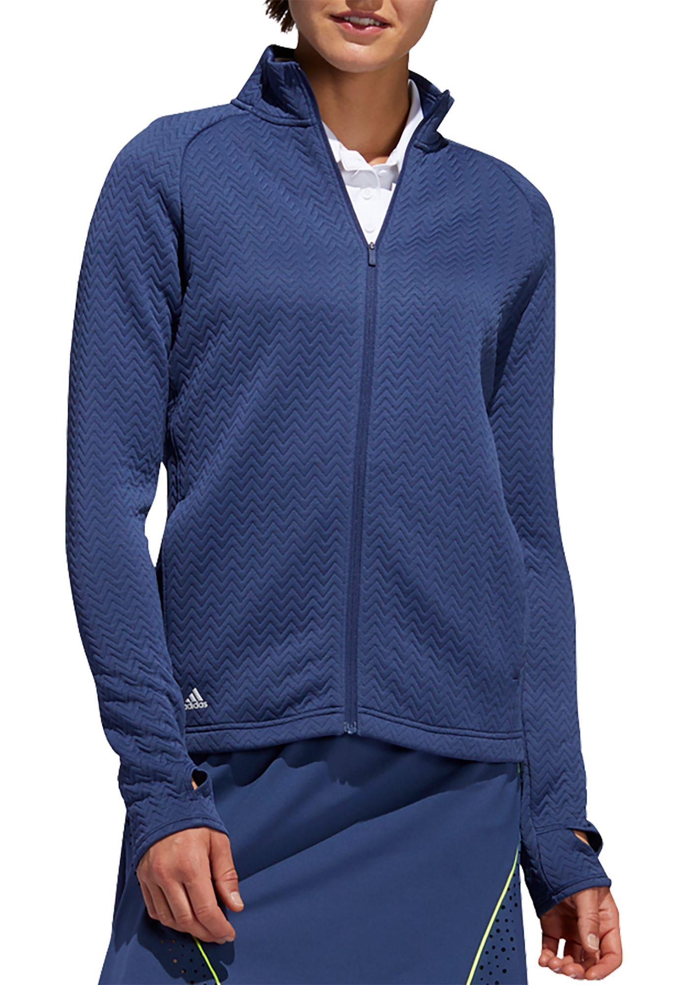 adidas Women's Textured Full-Zip Golf Jacket