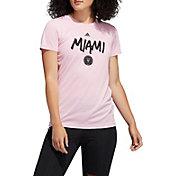 adidas Women's Inter Miami CF Logo Pink T-Shirt
