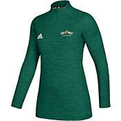 adidas Women's Cal Poly Mustangs Green Game Mode Sideline Quarter-Zip Shirt