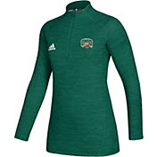 adidas Women's Ohio Bobcats Green Game Mode Sideline Quarter-Zip Shirt