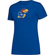 adidas Women's Kansas Jayhawks Blue Amplifier T-Shirt