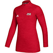adidas Women's Louisiana-Lafayette Ragin' Cajuns Red Game Mode Sideline Quarter-Zip Shirt