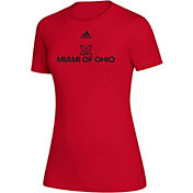 adidas Women's Miami RedHawks Creator  Red T-Shirt
