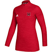 adidas Women's Miami RedHawks Red Game Mode Sideline Quarter-Zip Shirt