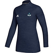 adidas Women's UNC-Wilmington  Seahawks Teal Game Mode Sideline Quarter-Zip Shirt