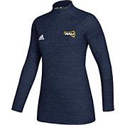 adidas Women's Northern Arizona Lumberjacks Blue Game Mode Sideline Quarter-Zip Shirt