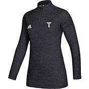 adidas Women's Troy Trojans Game Mode Sideline Quarter-Zip Black Shirt