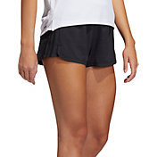 adidas Women's Pacer 3-Stripes Woven Heather Shorts
