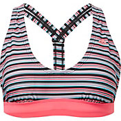 adidas Women's Pulse Stripe V-Back Bikini Top