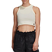 adidas Women's Recycled Cotton Cropped Tank Top