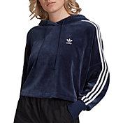 adidas Originals Women's Velour Cropped Hoodie