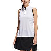 adidas Women's Engineered Gradient Quarter-Zip Sleeveless Golf Polo