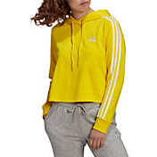 adidas Women's Essentials 3-Stripes Cropped Hoodie