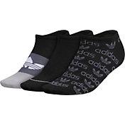 adidas Originals Women's Graphic No-Show Socks – 3 Pack