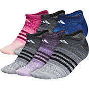adidas Women's Superlite Multi Space Dye No Show Socks – 6 Pack